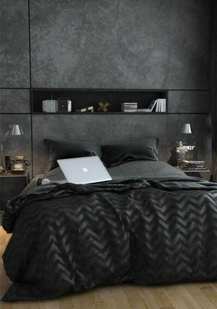 Die Graue Wandfarbe - 43 Interieur Ideen Damit - Archzine.net Schlafzimmer Anthrazit