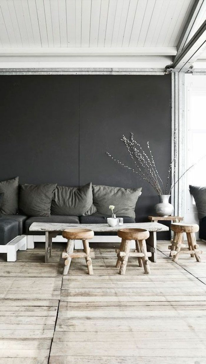 wandfarbe fur wohnzimmer anthrazit inspiration ber haus. Black Bedroom Furniture Sets. Home Design Ideas