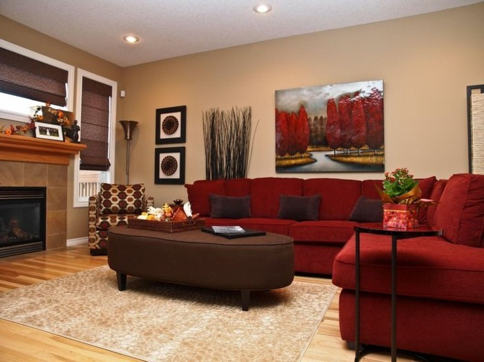Rotes Sofa U2013 80 Fantastische Modelle | Wohnzimmer ...