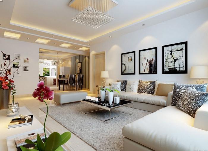 artistisches-Wohnzimmer-Interieur-attraktives-Modell-Wohnzimmertisch-Couchtisch