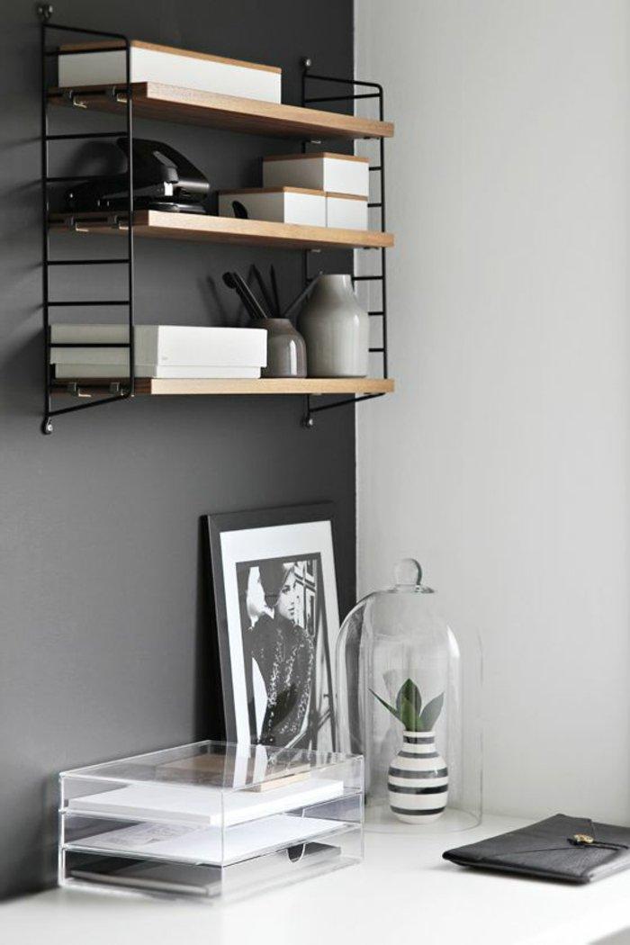 Die graue wandfarbe 43 interieur ideen damit - Wandfarbe arbeitszimmer ...