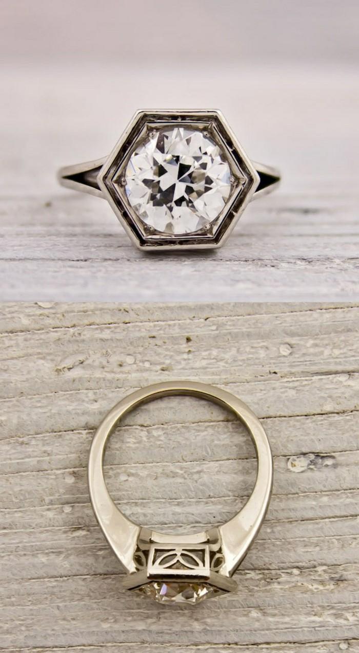 außergewöhnliche-Trauringe-mit-Diamant-in-vintage-Stil