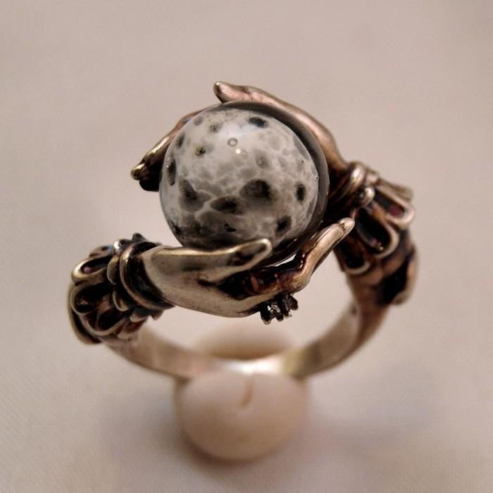 ausgefallene-Ringe-cooler-sphärischer-Orakel-Ring