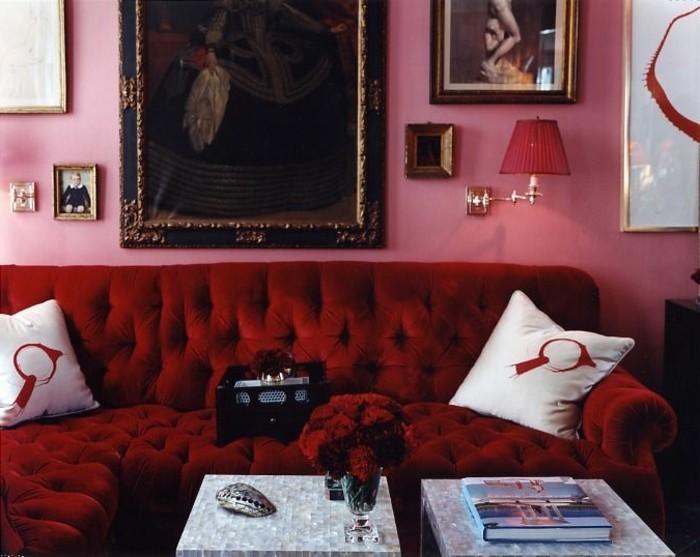 rotes sofa 80 fantastische modelle. Black Bedroom Furniture Sets. Home Design Ideas