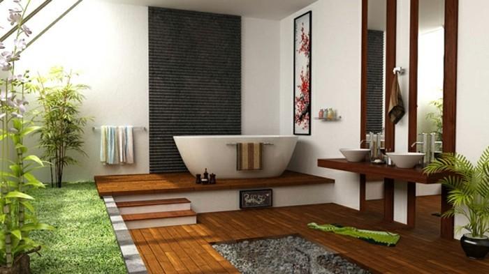 bad-bilder-wunderschöne-badmöbel-und-grüne-pflanzen
