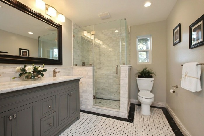 Badezimmer Ideen Spiegel : badezimmerfliesenideensupergroßerspiegel