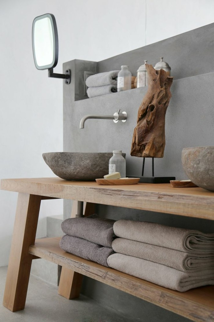 badezimmer-gestalten-ideen-sehr-schönes-waschbecken-hölzerner-unterschrank