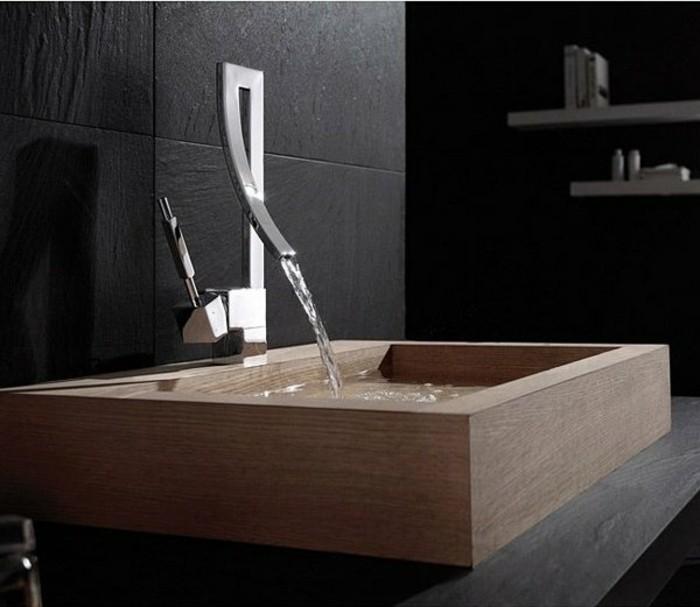 badezimmereinrichtung-tolles-hölzernes-waschbecken