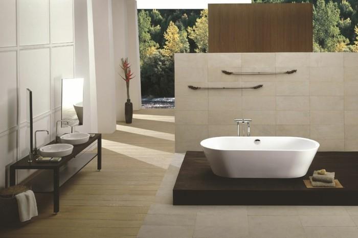badezimmereinrichtung-weiße-schöne-badewanne-beige-gestaltung