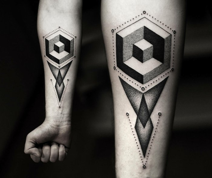 coole-geometrische-Tattoos-Bilder-Arm-Tattoos