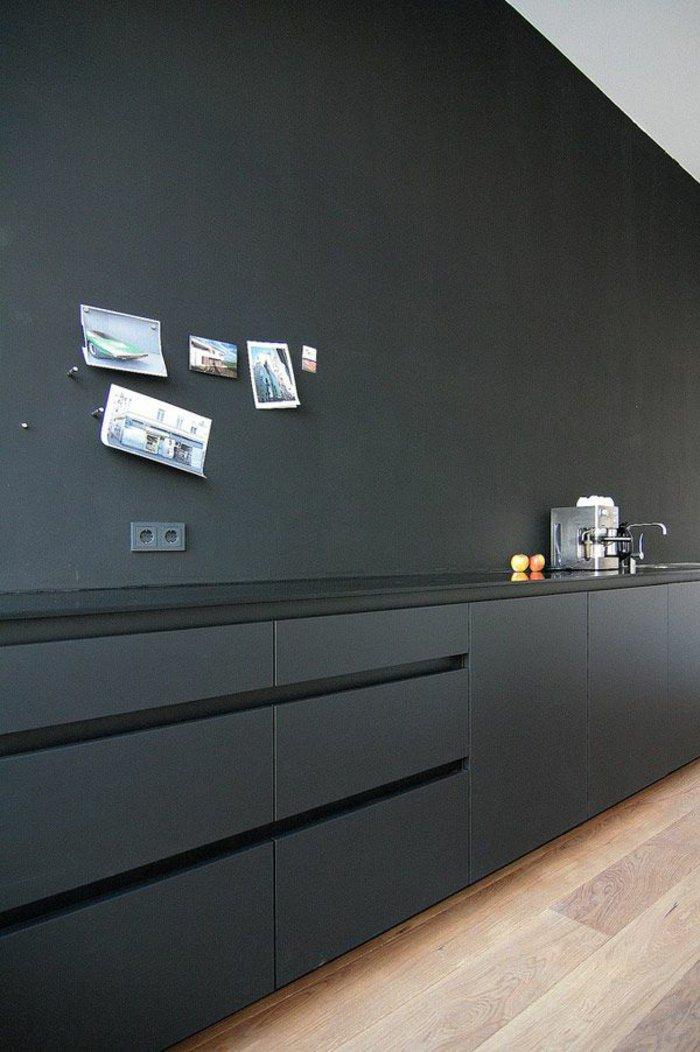 Die graue wandfarbe 43 interieur ideen damit for Wand anthrazit streichen