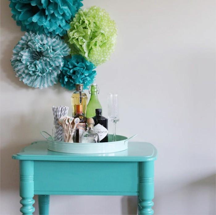 diy-wände-gestalten-blau-und-grün-kombinieren
