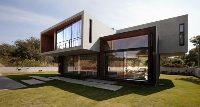 Moderne und schöne gestaltung luxuriöses einfamilienhaus bauen