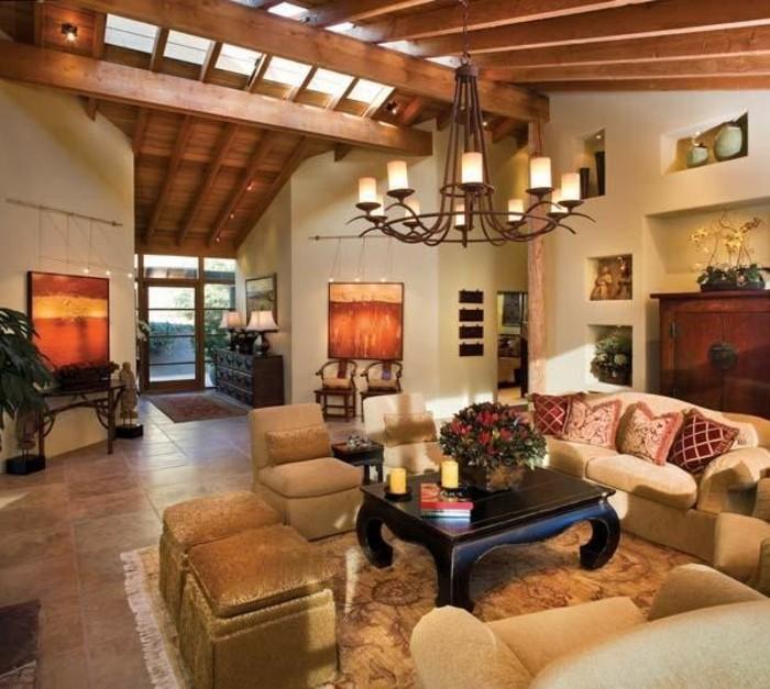 einrichtungsideen-wohnzimmer-gemütliche-atmosphäre-großes-sofa