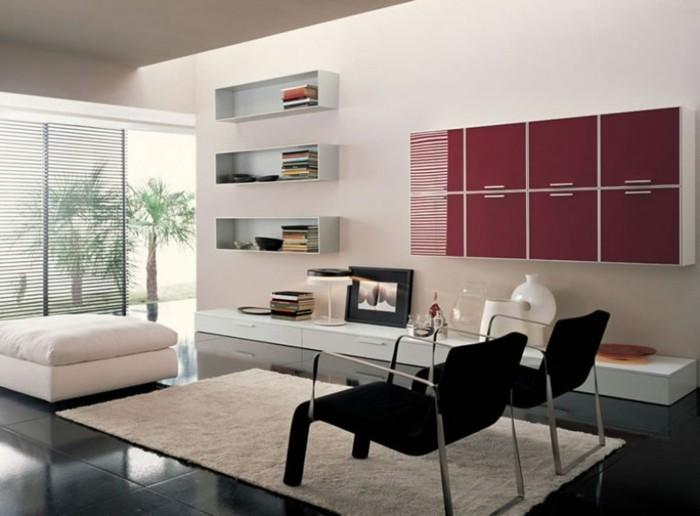 einrichtungsideen-wohnzimmer-kreative-wohnwand-wunderschöne-möbel