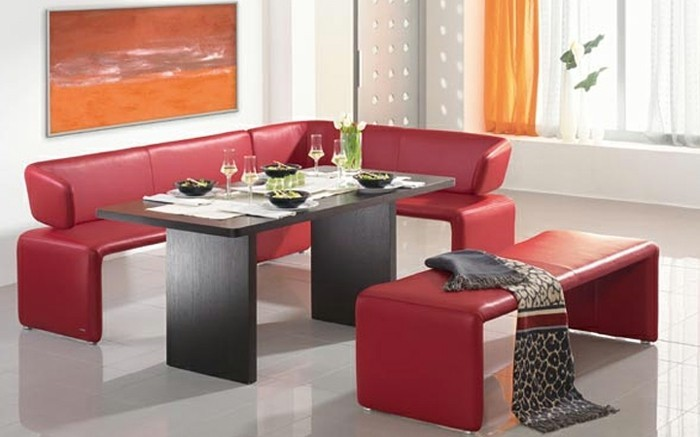 rotes esszimmer fur intensive einladende atmosphare. Black Bedroom Furniture Sets. Home Design Ideas