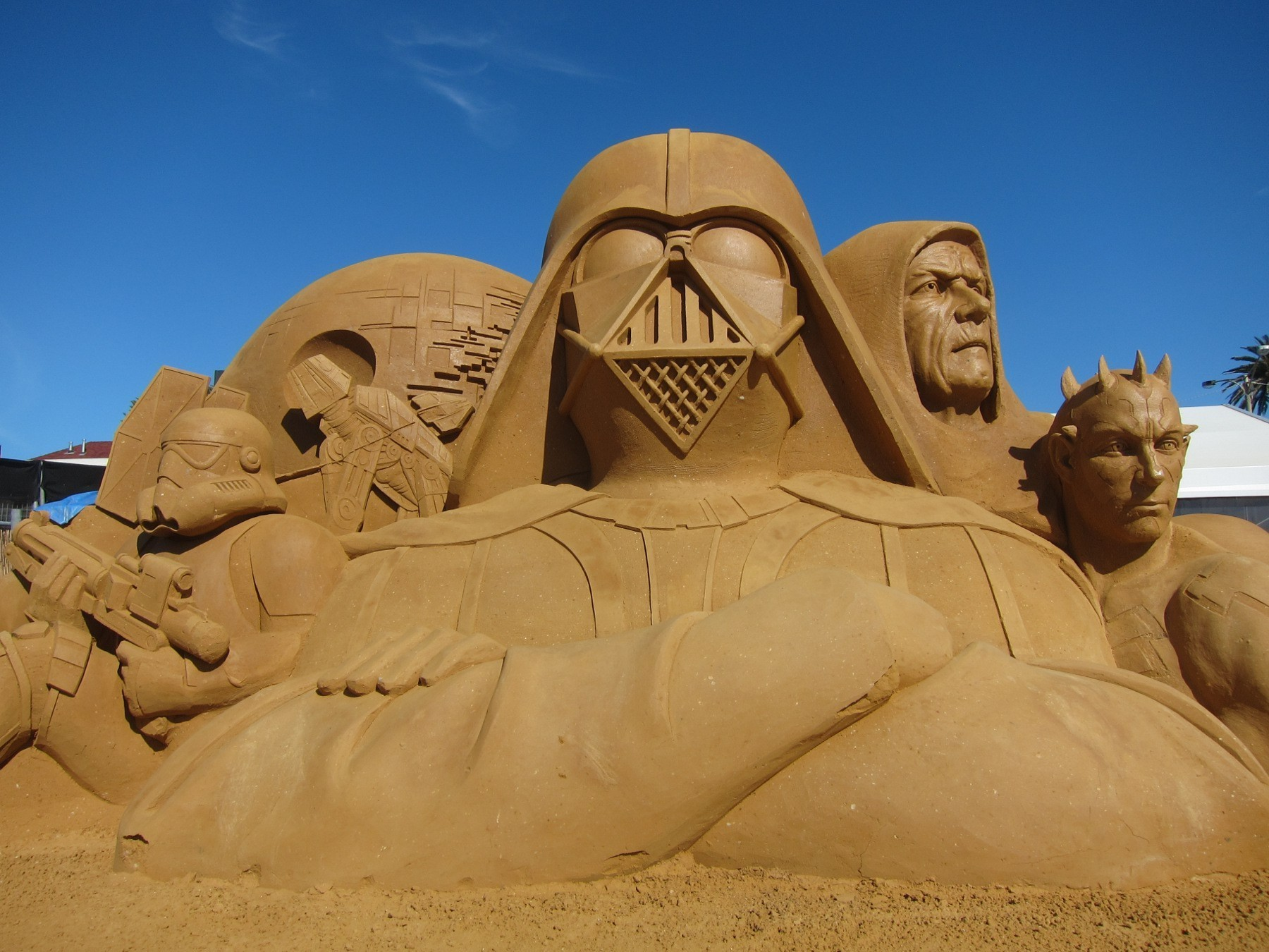 fantastische-realistische-Sandskulpturen-Star-Wars-Thema