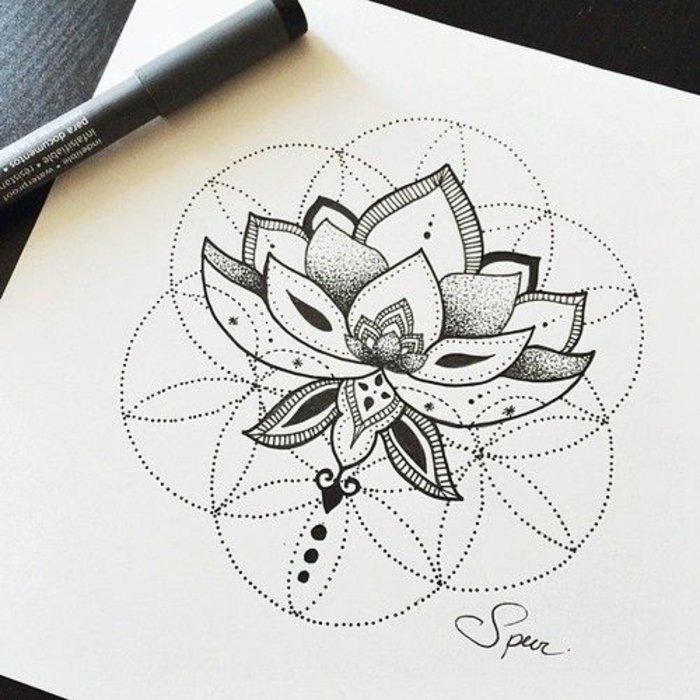 geometrische-Tattoo-Vorlagen-Tattoos-für-Frauen