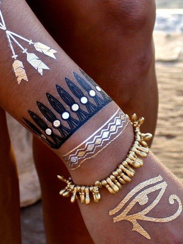 geometrische-temporäre-Tattoos-für-Frauen