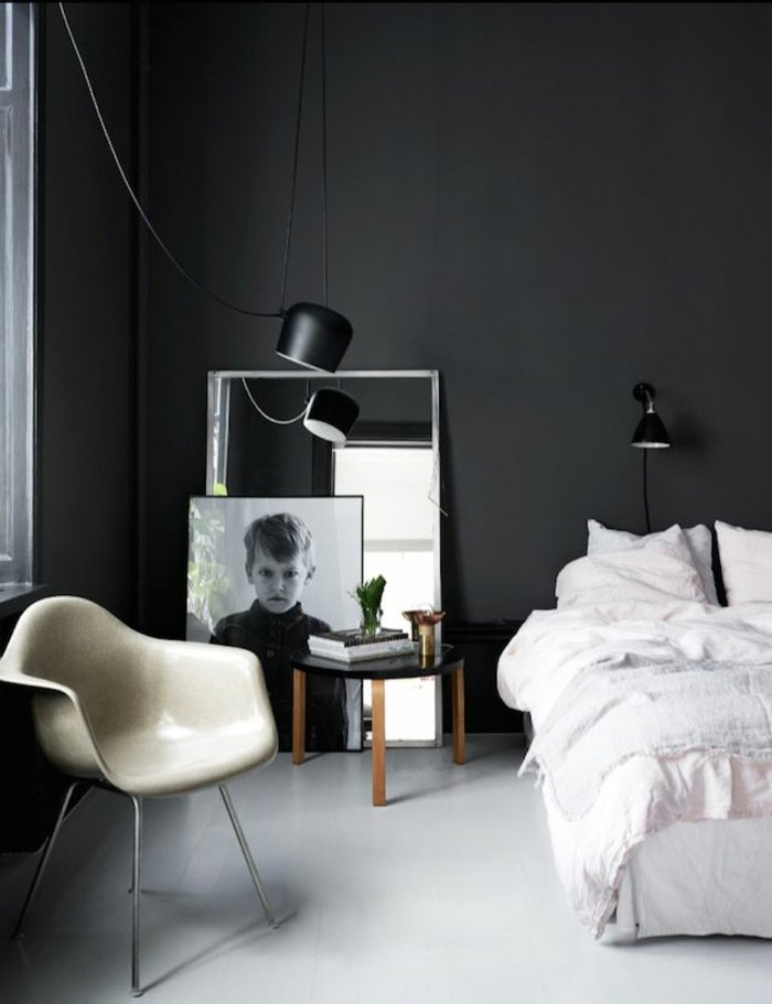 schlafzimmer anthrazit wandfarbe grau im schlafzimmer gestaltungsideen design ideen. Black Bedroom Furniture Sets. Home Design Ideas