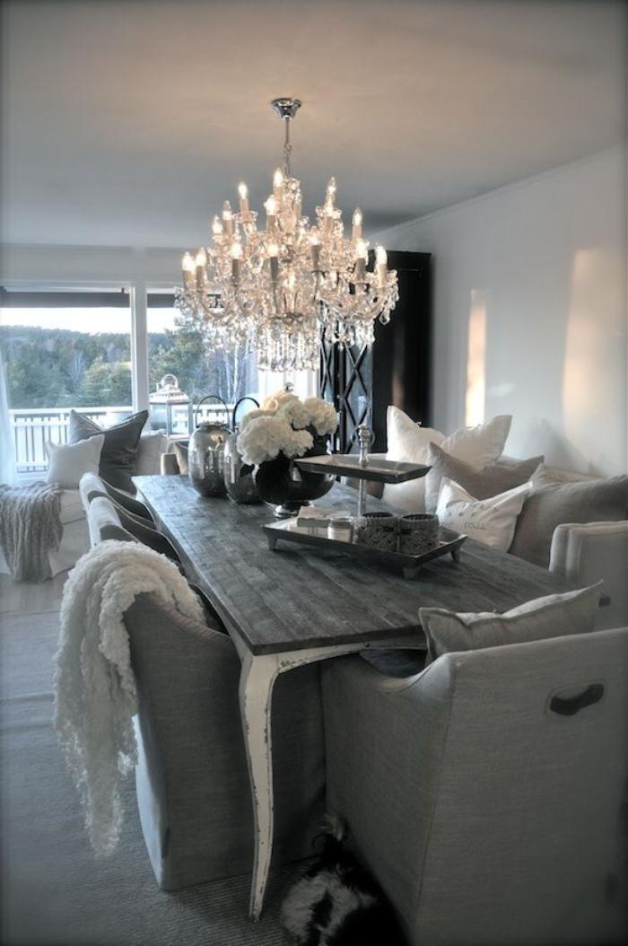 42 atemberaubende interieur varianten mit kristall for Graues esszimmer
