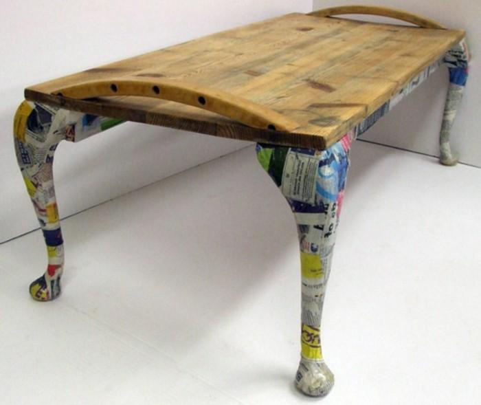 recycling mobel halzerner tisch mabel interessante gestaltung designer selber machen
