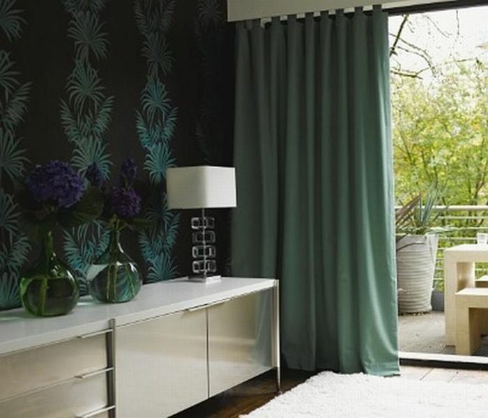 herrliches-modell-grüne-vorhänge-gemütliches-schlafzimmer-gestalten