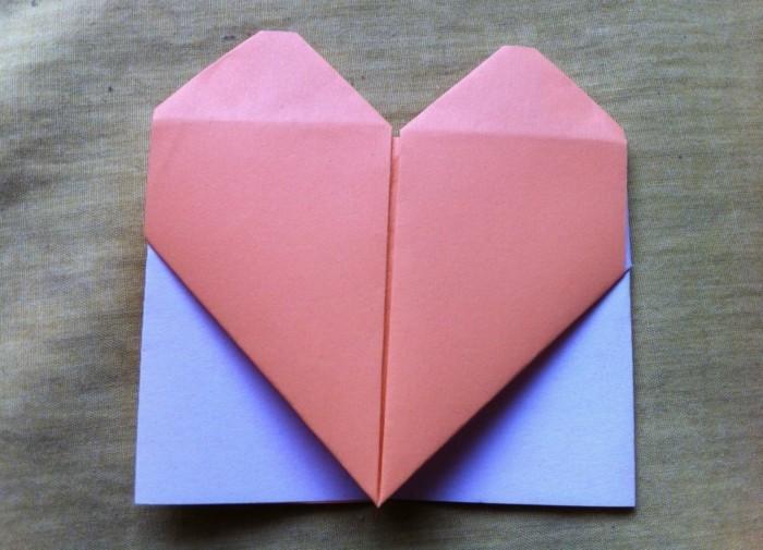 herze-basteln-rosiges-modell-origami