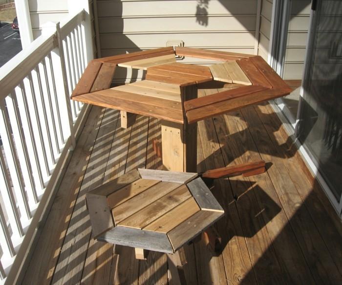 holzpalette-gestaltung-balkon-design-interessanter-tisch-sechs-ecken