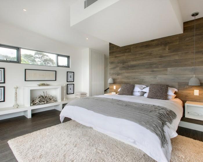 interessante-wandfarben-ideen-weiß-und-grau-im-schlafzimmer