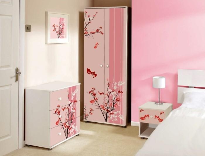 125 einrichtungsideen fur ein schones madchenzimmer for Innovative white and pink bedroom ideas
