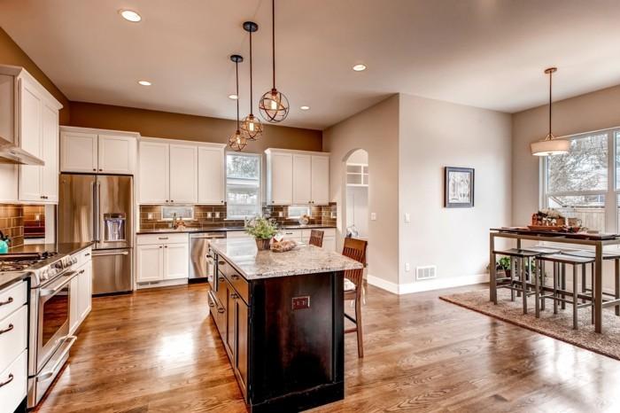 Küche Magnolie Farbe Moderne Schöne Gestaltung