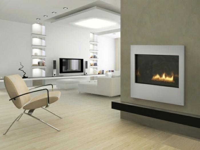 Wohnzimmer Kamin Design Offener Kamin Durch Tolle