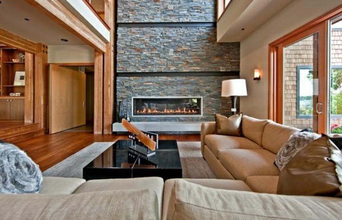 kamine-steinwand-wohnzimmer-gestalten