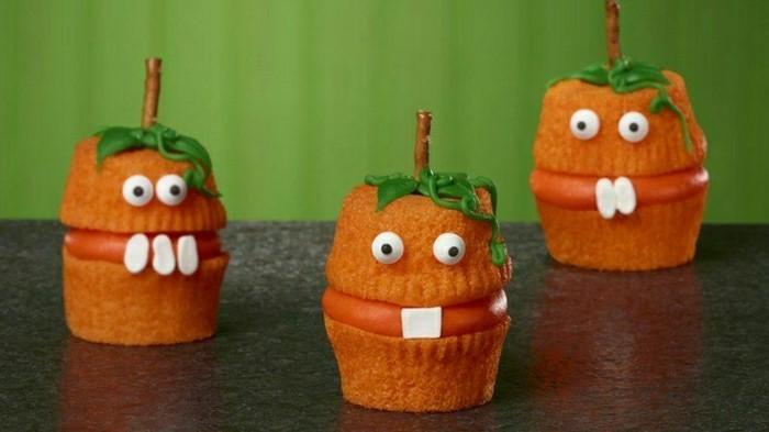 kindergeburtstagskuchen-kleine-süße-orange-muffins