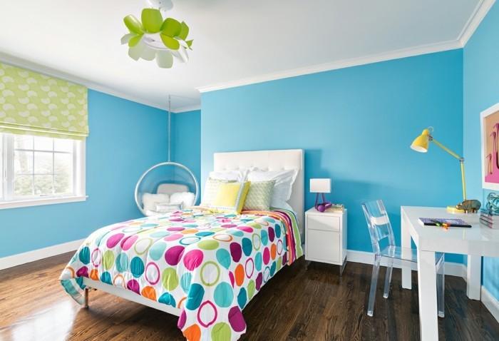 Kinderzimmer gestalten mädchen blau  125 Einrichtungsideen für ein schönes Mädchenzimmer! - Archzine.net