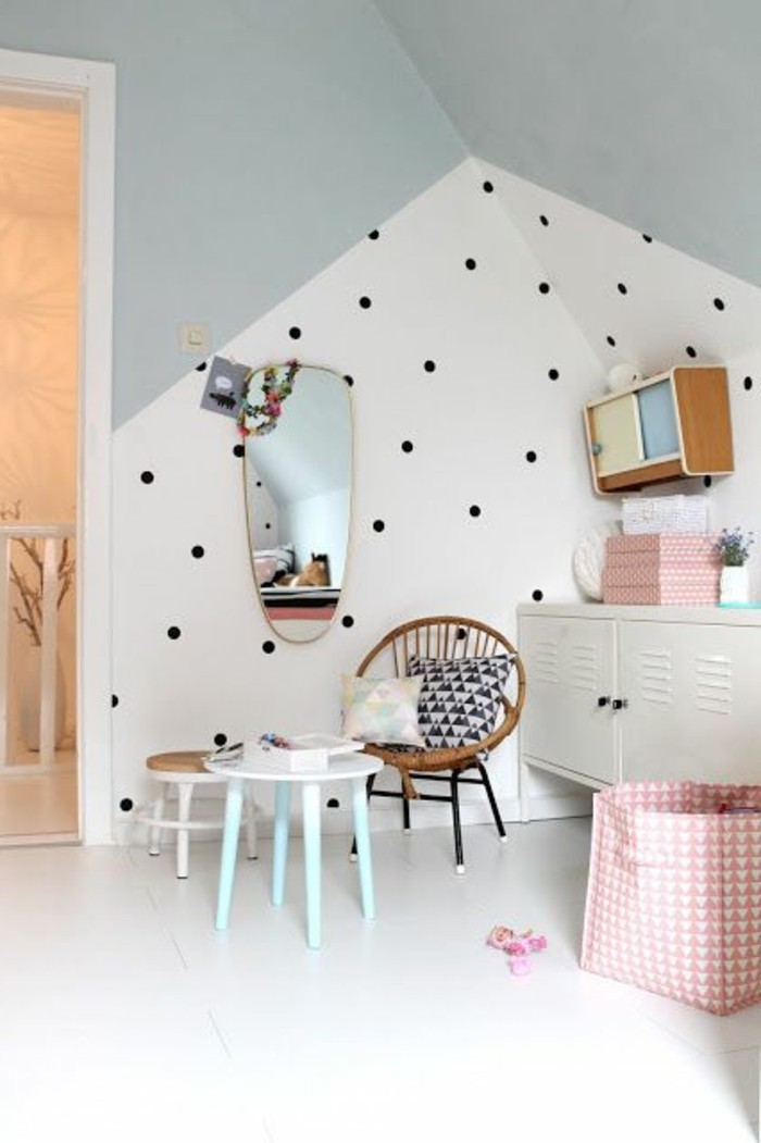 kinderzimmer wand ideen m dchen. Black Bedroom Furniture Sets. Home Design Ideas