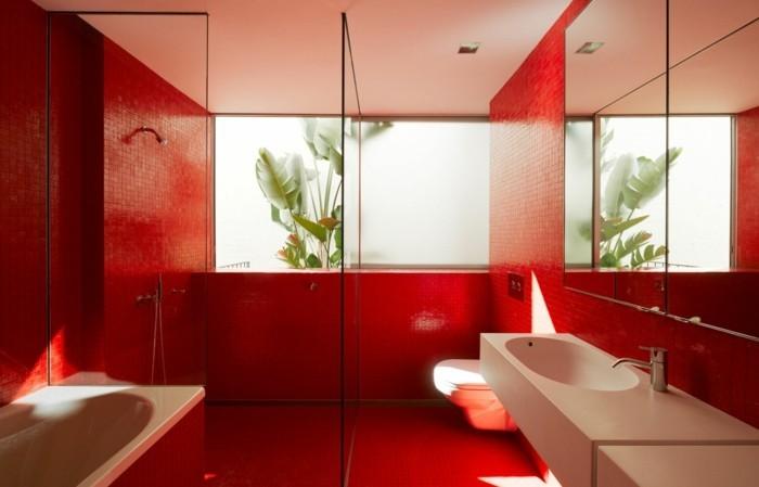 kleines-bad-rote-gestaltung-modernes-design