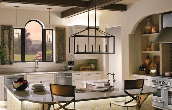 kreative-gestaltung-hängende-lampe-wunderschönes-design-küche