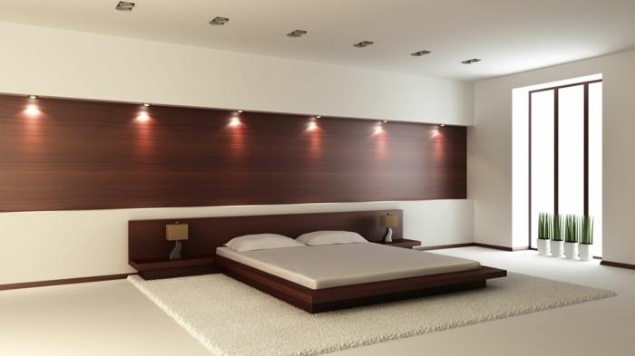 kreative-wandfarben-ideen-super-schönes-schlafzimmer-in-braun-und-weiß