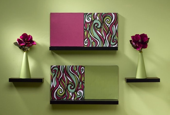 wanddeko selber machen raum und m beldesign inspiration. Black Bedroom Furniture Sets. Home Design Ideas