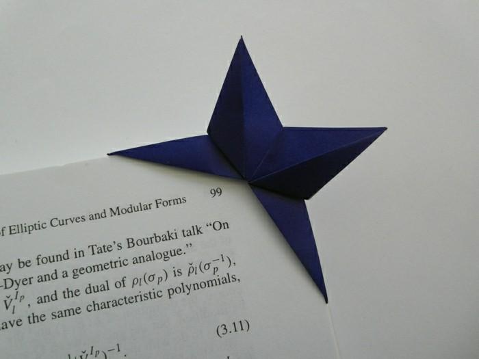 lesezeichen-basteln-originelle-idee-dunkel-blau