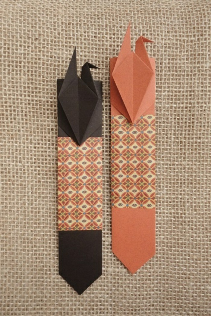 lesezeichen-basteln-sehr-schöne-idee-orange-und-braun