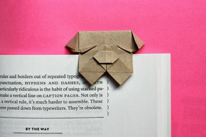 lesezeichen-selber-machen-origami-basteln-kleiner-süßer-hund