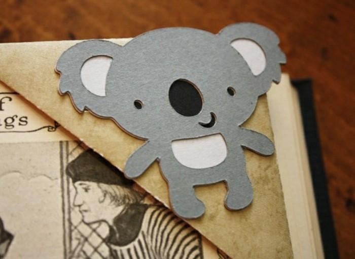 lesezeichen-selber-machen-origami-basteln-süße-tiere-originelle-figur