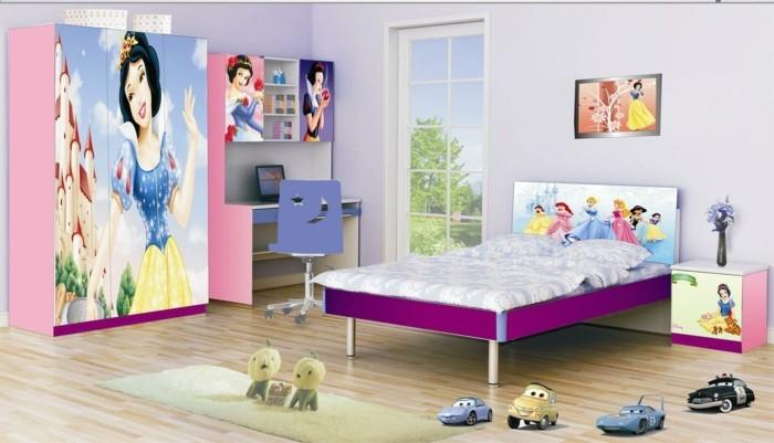 mädchenzimmer-möbel-super-schöne-kleiderschränke-mit-disney-bemalungen