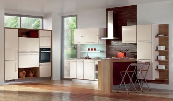 Kuche magnolie modern for Moderne kuchenfronten
