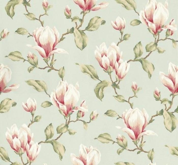magnolia-farbe-wandgestaltung-mit-retro-tapeten