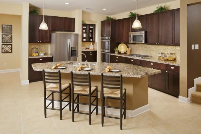 magnolia-küche-modernes-design-einige-tolle-barhocker