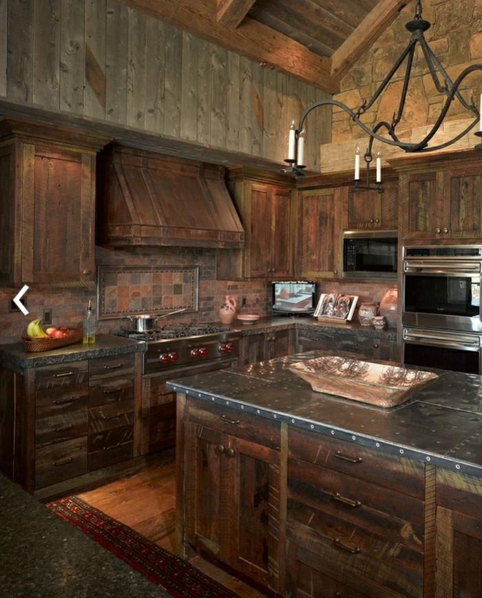 Küche Landhausstil Holz